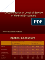 Documentation of Level of Service of Medical Encounters