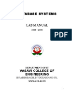 NEW DBMS Lab Manual