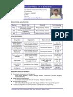 Anna University Dr.Saravanan Ramasamy - CWR - CV
