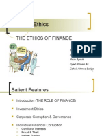Ethics of Finance