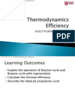 EAS3511 Thermodynamics Efficiency
