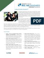 WiMAX and 802.16e Broadband Wireless Standards Course Brochure