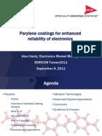 1._10001030_Parylene Coatings for Enhanced Reliability of Electronics_Semicon Taiwan 2011
