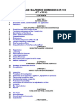 The Punjab Healthcare Commission Act