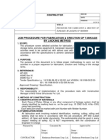 1)JOB PROCEDURE for Tank Fabrication and Erection of HPCL