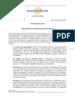 Communique Presse Rapport 2010 de l Observatoire de La Micro Finance