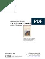 """Reseña amplia de """"La Sociedad Dividida"""" de José Félix Tezanos"""