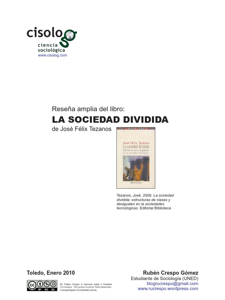 libro la sociedad dividida tezanos