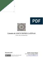 LISTADO LOCUCIONES LATINAS