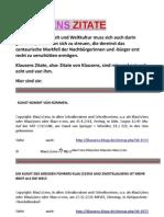 Klausens Zitate Stand 31-12-2011