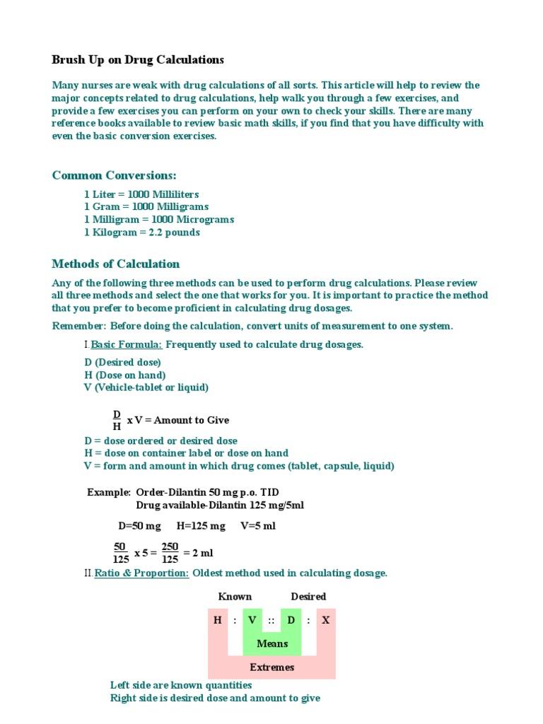 Worksheets Dosage Calculation Worksheets great charts on drug calculation best 25 dosage calculations i v cheat