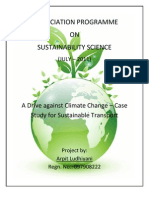 A Drive against Climate Change – Case Study for Sustainable Transport
