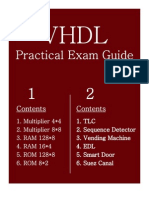 VHDL Practical Exam Guide