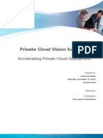 Private Cloud Vision Scope Pilot