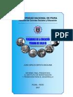 Pensadores de la Educación Peruana - Siglo XX
