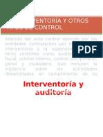 LA INTERVENTORÍA Y OTROS TIPOS DE CONTROL