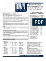 Providence @ Georgetown Game Notes