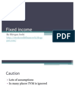 Fixed Income CFA FRM for Dummies