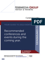 Webbmedia Group's 2012 Curated Conference Guide