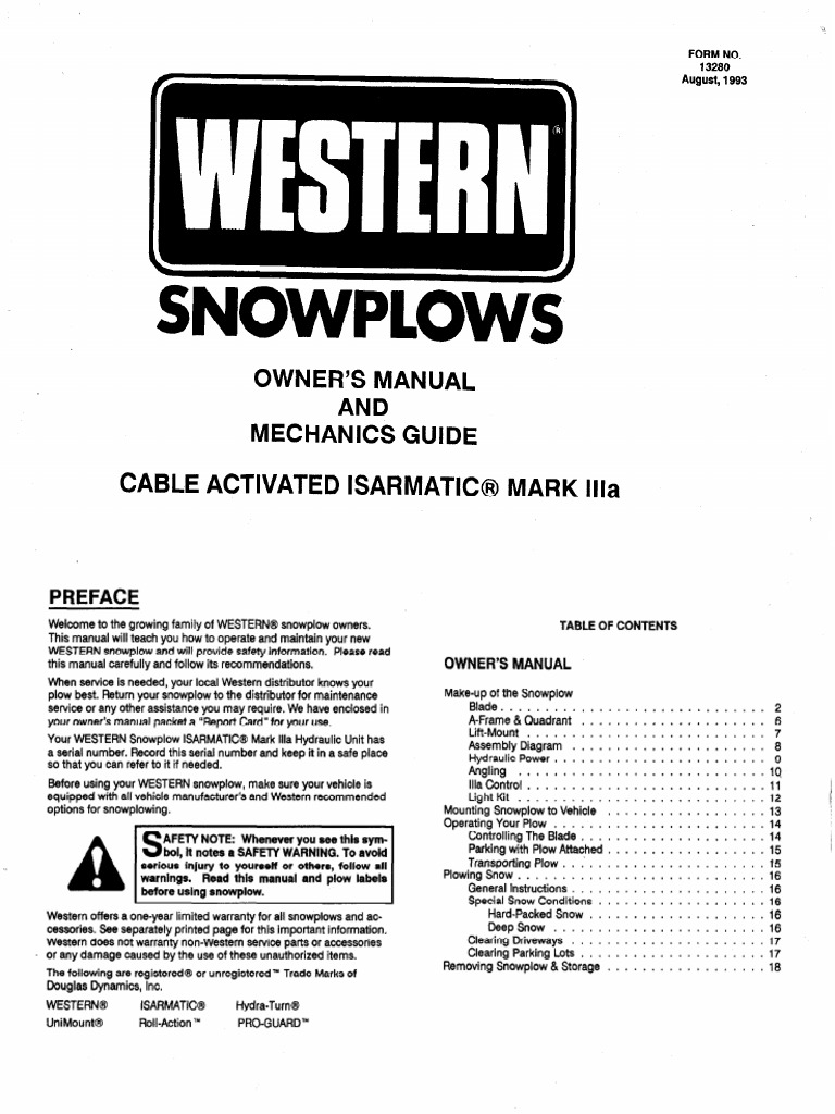 Western Plow Valve Plough Parts Diagram