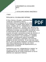 TESIS POLÍTICAS MOVIMIENTO AL SOCIALISMO ANDINO AMAZÓNICO