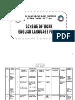 Scheme of Work English Form 2 2011