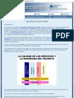 PROGRAMA NACIONAL DE GARANTIA DE CALIDAD DE LA ATENCION MEDICA. Seguridad de Los Pacientes