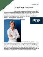 Elizabeth Warren the Woman Who Knew Too Much