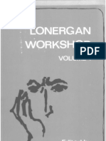Lonergan Workshop Vol 1