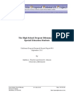 causes of high school dropouts