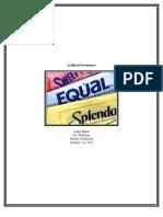 Artificial Sweeteners Paper