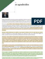 """""""La opción de ser agradecidos - Liahona Diciembre de 2011"""""""
