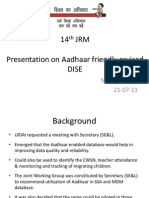 Aadhaar_based_revised_dise by Vijay Kumar Heer