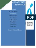 Organizational Behavior Project on Telenor