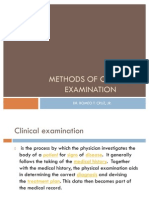 Methods of Clinical Examination