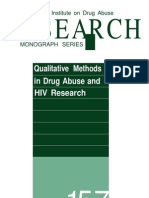 Qualitative Methods in Drug Abuse and HIV Research