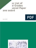 European Waste Paper Grades