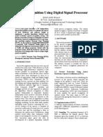 Speech Recognition Using DSP Processor