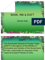 Bank,Rbi and Dgft