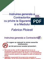 Instruirea Generala de Protectia Muncii a Contractorilor