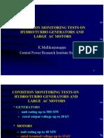 Condition Monitering on Motors and Generators