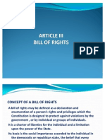 Article III-bill of Rights