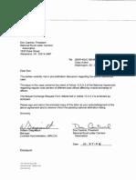 National Arbitration Pre Arb Settlement 10-27-08