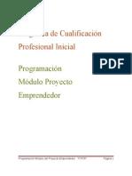 Programación del Módulo de Emprededores para 1º de PCPI