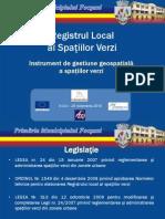 Registrul Local Al Spatiilor Verzi Primaria Focsani