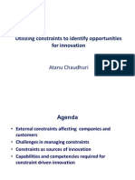 Utilizing Constraints for Innovation