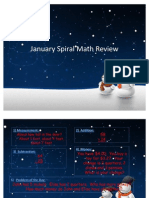 January Spiral Math Review