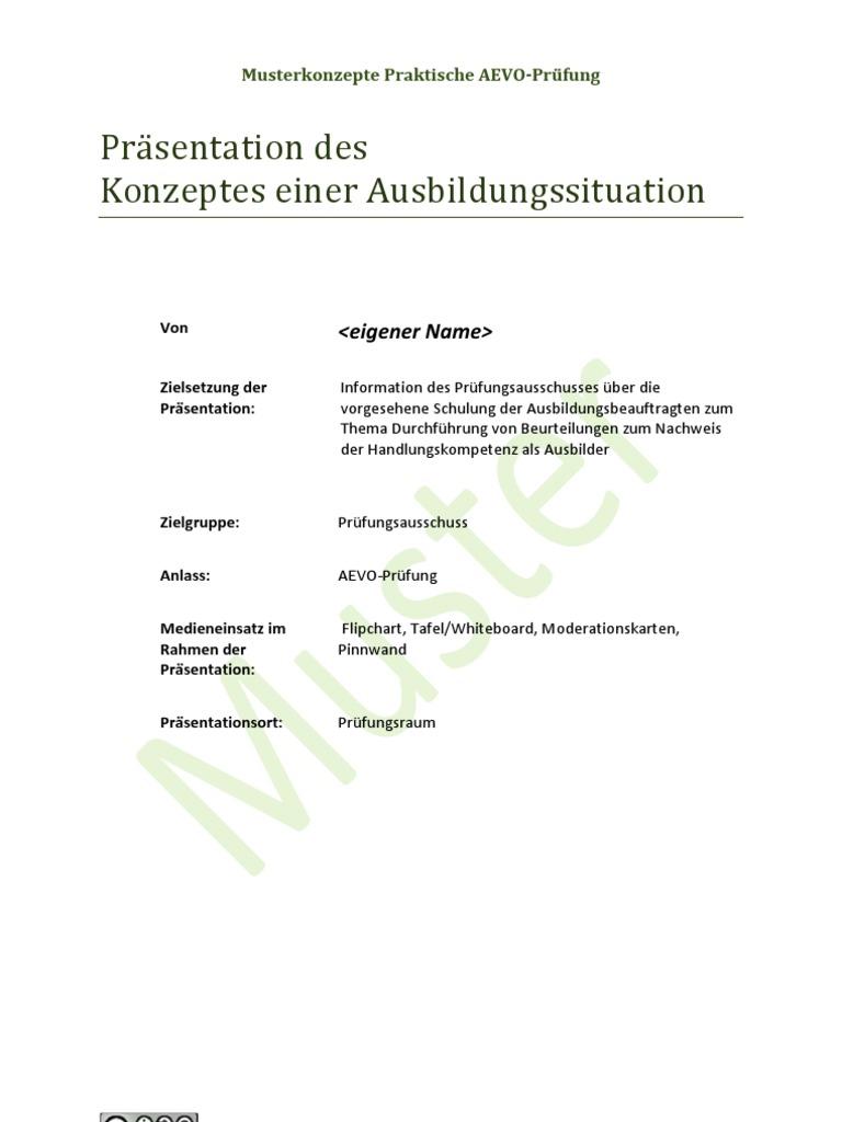 Ausbilder praktische Prüfung Konzept AEVO Präsentation ADA