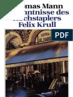 (eBook - German) Thomas Mann Bekenntnisse Des Hochstaplers Felix Krull