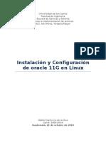 Guia de Instalacion de Oracle 11G en Linux